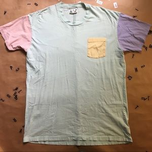 American Apparel Color Block Shirt